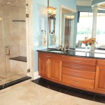Bow Front Sapele Vanity